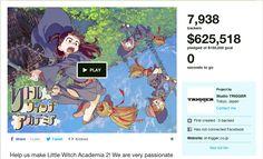 Kickstarterで大成功を収めた「リトルウィッチアカデミア2」に見る魅力的なリワードとは?