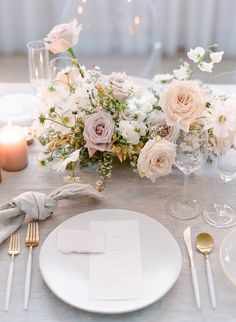 Timeless and Ethereal Wedding Inspiration at The Walper Hotel. Beautiful, modern and elegant wedding table place settin gin tonies of blush, peach, mauve Ethereal Wedding, Elegant Wedding, Floral Wedding, Rustic Wedding, Dream Wedding, Wedding Hair, Timeless Wedding, Church Wedding, Hotel Wedding