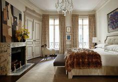 Paris: A vintage Haussmann-style apartment on Quai Voltaire Apartment, Interior Design, Vintage Apartment, Bedroom Apartment, Home, Cozy Interior Design, Guest Bedrooms, Parisian Apartment, French Apartment