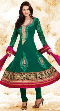 Classy Emerald Green Salwar Kameez