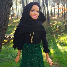 Stylish: The doll wearing one of Haneefah's creations