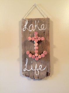 Lake life wine cork anchor