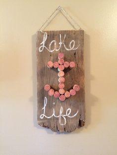 Lake life wine cork anchor