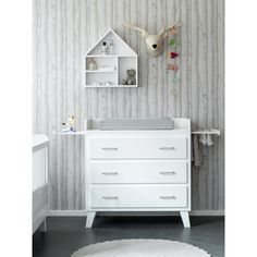 Coming Kids Scandi Commode Wit - 3 laden