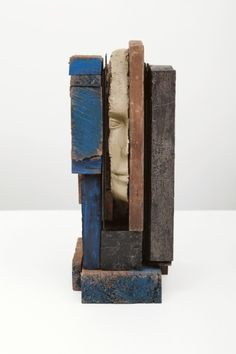 Mark Manders - Composition with Blue. Wood, painted wood, painted epoxy