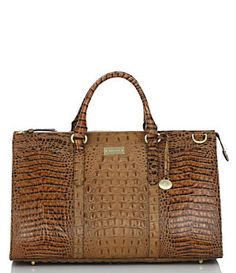 Brahmin Toasted Almond Collection Anywhere Weekender Bag