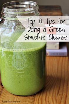 Helpful tips & tricks to successfully completing a green smoothie cleanse! Includes top 10 tips for doing a green smoothie cleanse. Jj Smith Green Smoothie, 10 Day Green Smoothie, Smoothie Detox, Vegan Smoothies, Green Smoothie Recipes, Juice Smoothie, Smoothie Drinks, Detox Drinks, 10 Day Cleanse