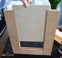 "How To Make A Shaker Cabinet Door (Remodelaholic) Hi everyone! It's Jill from The Rozy Home and I am here to share a tutorial that will change. I know what you are thinking – ""Jill, it's just a cabinet door. What's the big deal?"" As you kno Shaker Cabinet Doors, Diy Cabinet Doors, Diy Cupboards, Diy Kitchen Cabinets, Shaker Cabinets, Built In Cabinets, Kitchen Ideas, Cabinet Ideas, Bathroom Cabinets"