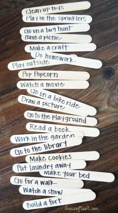free activities for kids. love the idea. Can also be used as surprise activities.