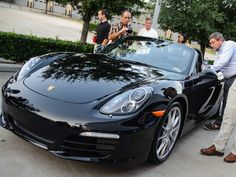 Sexy Porsche Boxster hits H-Town & party crowd gets a preview at Momentum Porsche bash