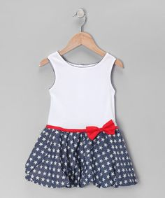 Take a look at this Fantaisie Kids Navy Star Drop-Waist Dress - Toddler & Girls on zulily today! Cute Girl Outfits, Little Girl Outfits, Kids Outfits, Fashion Kids, Girl Fashion, Toddler Girl Dresses, Toddler Girls, Cute Dresses, Girls Dresses