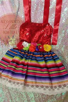Mexican Outfit, Mexican Dresses, Mexican Baby Dress, Mexican Party, Handmade Baby Clothes, Cute Baby Clothes, Baby Girl Birthday Outfit, Mexican Babies, Fiesta Dress