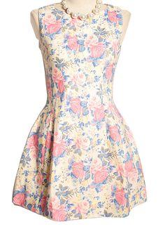 Vestido floral.