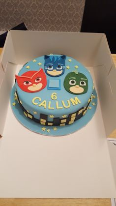 pj mask cake for a 5th birthday party