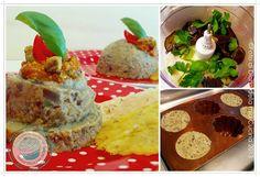 ©Diario della Mia Cucina - Ricette semplici, veloci e golose: Budino di melanzane con pesto di pomodorini confit e pistacchi con cialde di parmigiano al timo  Pudding eggplant