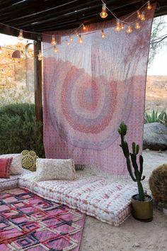Urban Outfitters Maina Medallion Tapestry, beautiful for the boho styled bedroom Bohemian Patio, Décor Boho, Bohemian Decor, Bohemian Style, Boho Chic, Boho Lounge, Bohemian Summer, Boho Hippie, Bohemian Tapestry