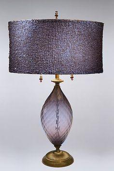 Nicole: Caryn Kinzig and Susan Kinzig: Mixed-Media Table Lamp - Artful Home