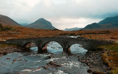 Bridge. Isle of Skye, Scotland.