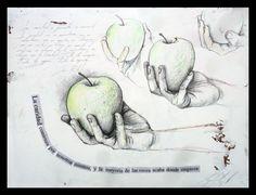 """CARIDAD Grafito, lápiz de color y collage sobre tabla preparada. 30x40 Obra de la serie """"7 Virtudes"""" del proyecto SEPTIES SEPTEM."""