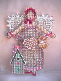 Brooke's Books Spirit of Crochet Angel Ornament Cross Stitch Chart Only