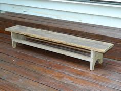 Rare 19th c Shaker Kneeling Bench Dry Old Putty Paint Untouched  sold  170.00