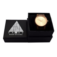Rose Gold & Walnut Wood Watch by Skov. Skov Provides Wooden Watches That Are Authentic, Unique and Lasting. Wooden Watch, Walnut Wood, Gold Watch, Rose Gold, Watches, Unique, Accessories, Design, Wooden Clock