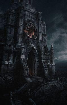 Gothic era castle of vampires: Dark Fantasy, 3d Fantasy, Fantasy Castle, Fantasy Places, Fantasy Setting, Fantasy Landscape, Fantasy World, Fantasy House, Dark Gothic