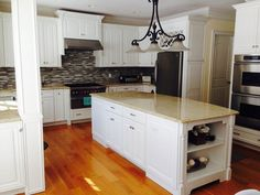 Victoria's Kitchen Cabinet Painting Transformation We painted it with Benjamin Moore satin impervo oil paint...