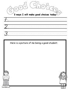 Making Good Choices Activity Sheets | Activity: Choices Coloring ...