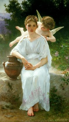 William-Adolphe BOUGUEREAU Whisperings of Love