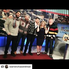 #Repost from @warrenchaseretreat. If you're in the Ottawa area make sure and check out one of their two locations for your favourite beard grooming products.  @ctvottawamorninglive with @ctvmelissalamb talking #vintagesweaters and #beards #beardgrooming @alwaysbearded  @crownshavingco #ottawa #giftsforthebeardedguy sweater from @hudsonsbay #stripespotting