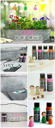 Add some imagination to your container garden with DecoArt acrylic paint.