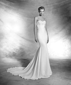 Velda, robe de mariée originale, décolleté en cœur, style élégant