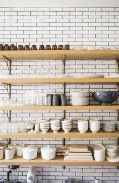 Cool kitchen storage | via Making it Lovely