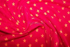 Baumwolljersey mini Sterne Stars rot orange von Stoff-Zaubereien auf DaWanda.com