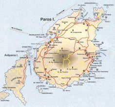 Map of Paros island