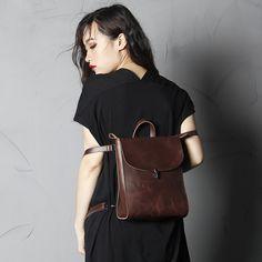 Rucksäcke - Lederrucksack,Rucksack, Ledertaschen, Frauenbeutel - ein Designerstück von Lisa-Krasil bei DaWanda
