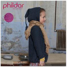 Modèle gratuit veste capuche fille de Phildar