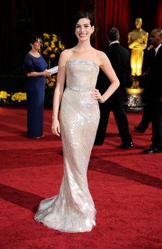 Giorgio Armani Mermaid Dress Of Anne Hathaway  At the Academy Awards, February 2009.