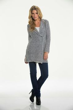 Black and White Pin Dot Sweater – Lil Nook Corp