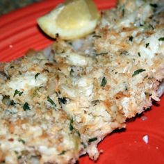 Crab-Topped Tilapia Recipe