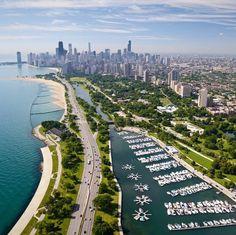 World famous Lake Shore Dr. - Chicago , Illinois