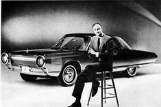 Elwood Engel - Chrysler Designer and genius behind the earlier award wining '61 Lincoln, with his later Chrysler Turbine car built by Ghia of Turin.