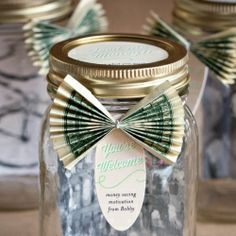 Help motivate your friends and family to save money this year by making these personalized savings jars for them!