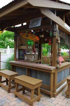 New Backyard Gazebo Bar Patio 69 Ideas Diy Outdoor Bar, Outdoor Kitchen Bars, Outdoor Kitchen Design, Outdoor Living, Outdoor Kitchens, Outdoor Food, Outdoor Decor, Backyard Gazebo, Backyard Landscaping