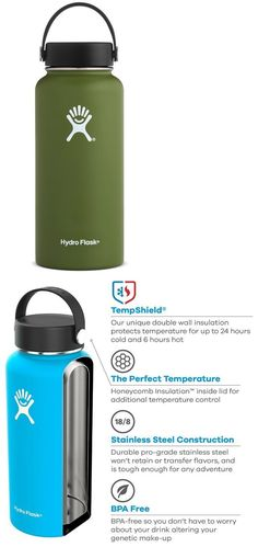f11c5090d0 Canteens Bottles and Flasks 181408: Hydro Flask 32 Oz Insulated Wide Mouth  Stainless Steel Water