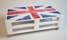 Журнальный стол из поддонов, тип, размер, цвет, изображение
