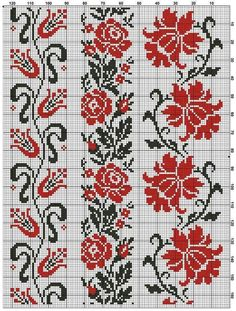 This Pin was discovered by Хри Cross Stitch Borders, Cross Stitch Flowers, Cross Stitch Charts, Cross Stitch Designs, Cross Stitching, Cross Stitch Patterns, Loom Patterns, Craft Patterns, Beading Patterns