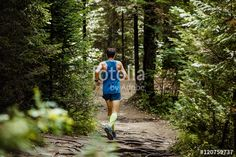 """""""active young man running in woods. healthy lifestyle and sports"""" Stock photo and royalty-free images on Fotolia.com - Pic 120759737  