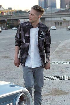 Your Neighbors New Wave Nylon Jacket #urbanoutfitters
